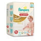 Spesifikasi Pampers Popok Premium Care Active Baby Pants Xl 54 Merk Pampers