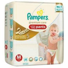 Beli Pampers Premium Active Baby Pants M 68 Murah Indonesia