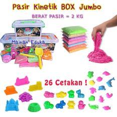 Pasir Kinetik 2 Kg Box Jumbo Isi Super LENGKAP