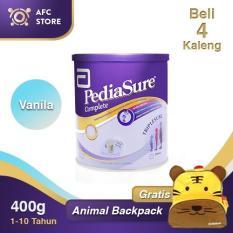 Spesifikasi Pediasure Complete Triplesure Vanilla 400Gr 4 Kaleng Animal Backpack Lengkap Dengan Harga