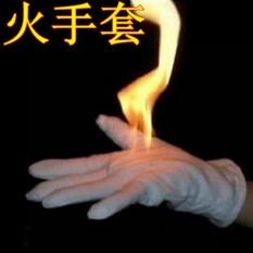 PentaQ 2 Pairs/set Fire Magic Trik Panggung Alat Sulap Magic Fire Glovesfor Saran dan