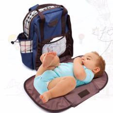 perlengkapan baju bayi tas bayi import tas pergi bayi tas untuk balita lazada tas bayi tas tas baby tas perlengkapan bayi yang bagus tas anak balita tas pakaian anak  Tas Bayi Blue Diaper Bag Water Proof