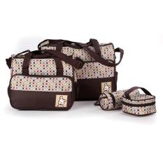 perlengkapan bayi perempuan tas pakaian tas untuk membawa perlengkapan bayi tas perlengkapan bayi lucu tas bayi karakter tas u ntuk baju bayi perlengkapan bayi lazada  Tas Bayi Coffe 5 IN 1