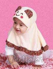 Permata Jilbab Bayi 02 size L Coklat