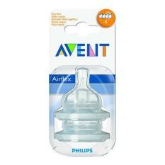 Philips Avent SCF634/27 TEAT FAST FLOW 4 HOLES NORMAL