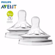 Philips Avent SCF658/23 Natural New Spiral Grown Up Flow Teats 9M+ Isi 2 Pcs