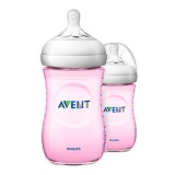 Jual Philips Avent Scf694 23 Natural Pp 9Oz Bottle Pink Twin Murah Di Indonesia