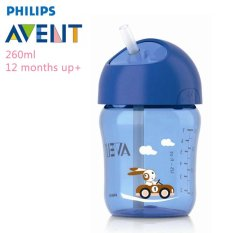 Toko Philips Avent Scf760 00 Straw Cup 260 Ml Single 12M Biru Online Terpercaya