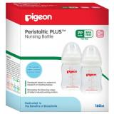 Beli Pigeon 2 Pack Wide Neck Pp 160 Ml With Peristaltic N*ppl* Murah