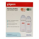 Promo Pigeon 2 Pack Wide Neck Pp 240 Ml With Peristaltic N*ppl* Pigeon Terbaru