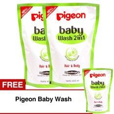 Promo Toko Pigeon Baby Wash Chamomile 600Ml Refill Beli 2 Gratis 1