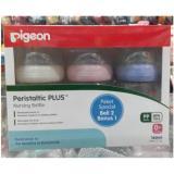 Jual Pigeon Beli 2 Bonus 1 Botol Susu Bayi Wide Neck 160 Ml Dot N*Ppl* Peristaltic Plus Pigeon Jawa Timur