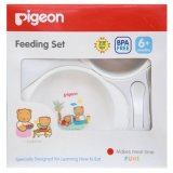 Spesifikasi Pigeon Bpa Free Feeding Set Mini 6M Murah