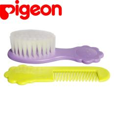Pigeon Comb And Brush Set Hijau Dan Ungu Pigeon Diskon