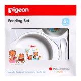 Jual Pigeon Feeding Set 6 Mini Peralatan Makan Bayi Putih Branded Original