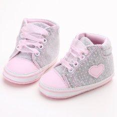 Sepatu Bayi Baru Lahir Laki-Laki Perempuan Bahan Kanvas Lembut S1615