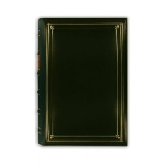 Foto Perintis 204-Pocket Ring Bound Photo Album untuk 4 Oleh 6-Inch Cetakan, Hunter Green Berikat Kulit dengan Aksen Emas Cover-Intl