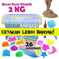 Harga Play Sand Pasir Kinetik 2 Kg Coklat Aksesoris Lengkap