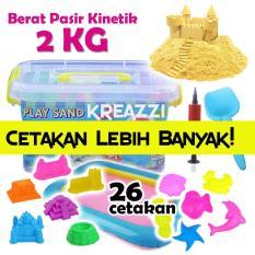 Spesifikasi Play Sand Pasir Kinetik 2 Kg Peach Aksesoris Dan Harga