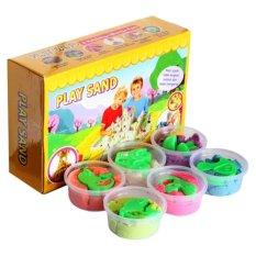 Jual Play Sand Pasir Kinetik Isi Warna Warni 12 Cup Play Sand Grosir