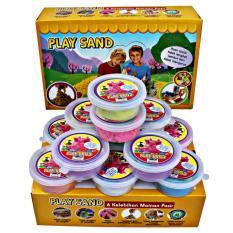 Play Sand Set isi 12 Pcs Warna Warni + Cetakan / Mainan Edukatif Anak