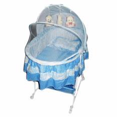 Diskon Pliko B608An Oval Cradle Baby Baby Box Playpen Keranjang Lipat Bayi Biru Pliko
