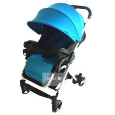 Pliko Baby Stroller 618 London Alumunium Lightweight Kereta Dorong Bayi Biru Indonesia