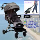 Harga Pliko Baby Stroller New Coast 629Al Lightweight Travelmate Kereta Dorong Bayi Abu Abu Baru Murah