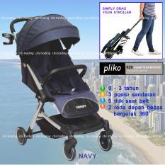 Jual Beli Pliko Baby Stroller New Coast 629Al Lightweight Travelmate Kereta Dorong Bayi Navy Indonesia