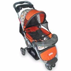 Jual Pliko Boston Pk 338 Baby Stroller Kereta Dorong Bayi 3 In 1 Oranye Satu Set