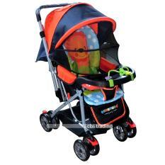 Kualitas Pliko Creative Classic Baby Stroller Bs 218 Lightweight Kereta Dorong Bayi Orange Pliko