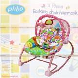 Review Pliko New Pk 308B Bouncer 3 Phase Rocking Chair Hammock Kursi Ayunan Bayi Merah Muda