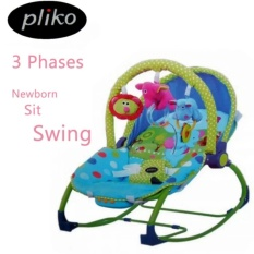 Pliko PK-308 Hammock Rocking Chair 3 in 1 Animal - Baby Bouncer / Ayunan Bayi - Multicolor