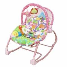 Harga Pliko Pk 308 Hammock Rocking Chair Polkadot Pink Baby Bouncer Ayunan Bayi Pink Terbaru