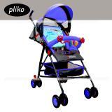 Jual Pliko Stroller New Buggy Techno S 107 Kereta Dorong Bayi Biru Branded Original