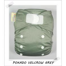 Toko Pokado Popok Kain Clodi Velcrow Cloth Diapers Polos Grey Online