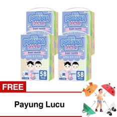 Harga Pokana Baby Pants Super Jumbo Pack M58 Isi 4 Gratis Payung Lucu Pokana Asli