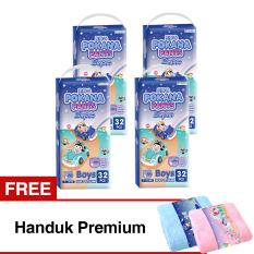 Harga Pokana Popok Pants Super M 32 Boys Karton Isi 4 Gratis Handuk Premium Indonesia
