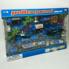 Diskon Police Patrol Play Set Biru Toy
