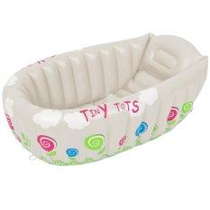 Harga Portabel Bayi Balita Inflatable Bathtub Shower Basin Udara Renang Foldable Anti Slip Dengan Lembut Kembali Pad Beige Intl Asli Thinch