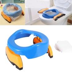 Portable Baby Travel Potty Training Toilet Kursi Asisten Chair (Biru)-Intl