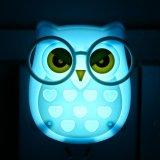 Beli Portable Led Nightlight Kontrol Otomatis Sensor Lamp Kids Bedroom Wall Light Biru Intl Oem