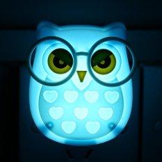 Jual Portable Led Nightlight Kontrol Otomatis Sensor Lamp Kids Bedroom Wall Light Biru Intl Oem Online