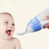 Portable Silicone Bayi Sereal Jus Botol Makan Dengan Sendok Pink Intl Oem Diskon 30