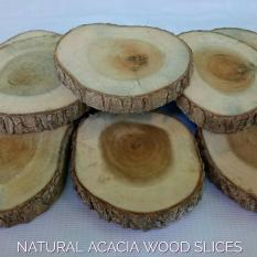 Potongan Kayu Akasia Natural ACACIA Wood Slices