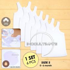 PREMIUM 6pcs Kaos Dalam Bayi 100% COTTON KD-01 / KATUN DINGIN SERAP KERINGAT Lembut / baju bayi anak perempuan / baju bayi laki laki  / perlengkapan bayi