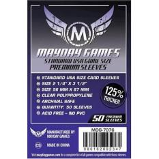 Premium Card Sleeves 56X87 Mm - Standard Usa - Board Game - Mayday - 637A99 - Original Asli