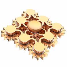 Premium Fidget Spinner Mainan Hand Spinner 9 Gears Linkable - Gold