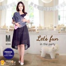 Jual Premium Gendongan Kaos Baby Leon Cotton Geos Selendang Katun Slendang Bayi By 46 Gb Ukuran M Navy Baby Leon Murah