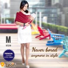 Toko Premium Gendongan Kaos Baby Leon Cotton Geos Selendang Katun Slendang Bayi By 46 Gb Ukuran M Red Chili Lengkap